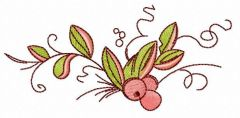 Cranberry embroidery design