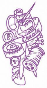 Creative mood embroidery design