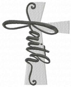 Cross faith free embroidery design