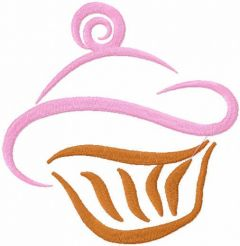Cupcake free embroidery design