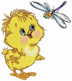 Curious chicken 2 embroidery design