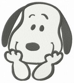 Curious Snoopy embroidery design