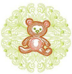 Cute small teddy embroidery design