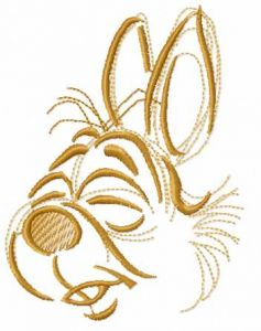 Cute bunny muzzle embroidery design