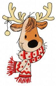Cute Christmas deer 3 embroidery design