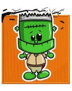 Cute Frankenstein embroidery design