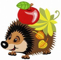 Cute hedgehog embroidery design