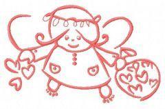 Cute little fairy 2 embroidery design