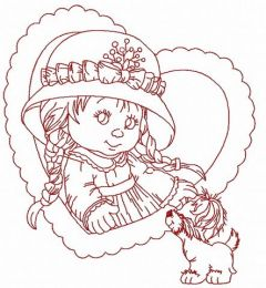 Cute little girl 2 embroidery design
