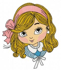 Little cute girl 7 embroidery design