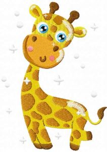 Cutesmall giraffe embroidery design