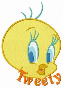 Cute Tweety embroidery design