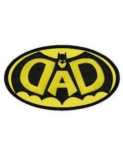 DAD Batman oval badge embroidery design