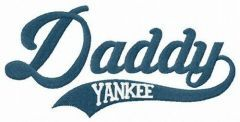 Daddy yankee embroidery design