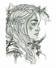 Daenerys sketch embroidery design