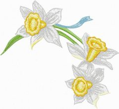 Daffodil 1 embroidery design