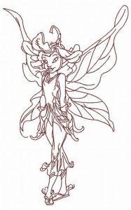 Daisy fairy 3 embroidery design