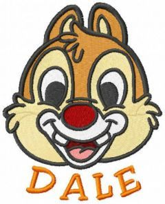 Dale muzzle embroidery design