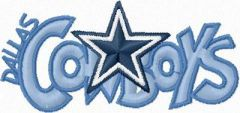 Dallas Cowboys Logo embroidery design