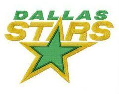 Dallas Stars alternative logo embroidery design