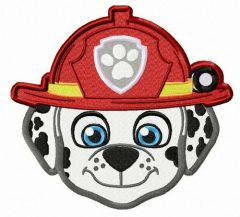 Dalmatian firefighter embroidery design