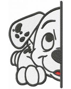 Dalmatian puppy half muzzle embroidery design