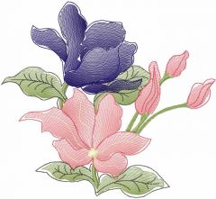 Flower 28 embroidery design