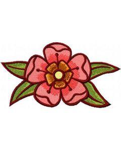 Dark red flower free embroidery design