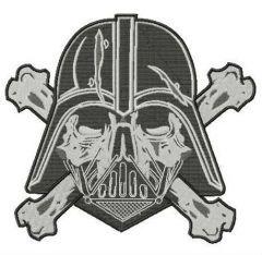 Darth Vader crossed bones embroidery design