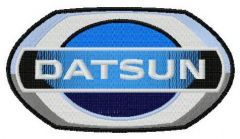 Datsun logo embroidery design