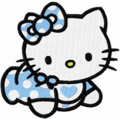 Hello Kitty Baby embroidery design 2