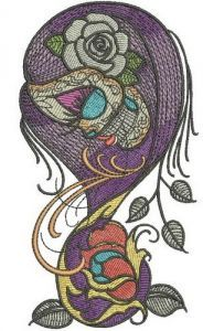 Dead beauty 2 embroidery design