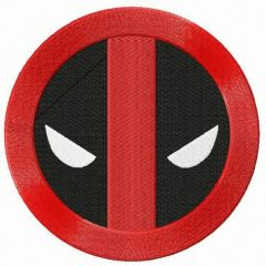 Deadpool road sign embroidery design