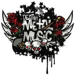 Death metal music embroidery design