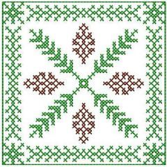 Decoration cross stitch embroidery design