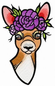 Deer's summer time embroidery design