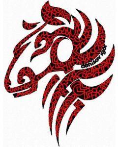 Demioro Tribal Horse embroidery design