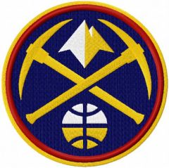 Denver Nuggets 2019 alternative logo embroidery design