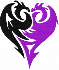 Descendants embroidery design
