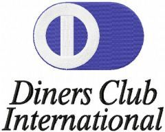 Diners Club International logo embroidery design
