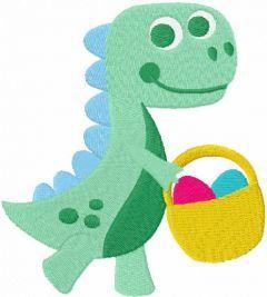 Dinosaur boy easter free embroidery design