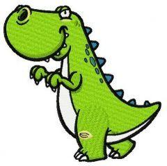 Dinosaur sneaks embroidery design