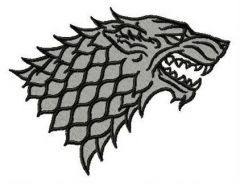 Direwolf Winter is Coming embroidery design