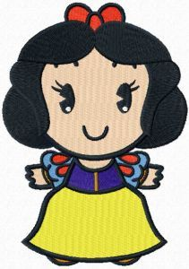 Disney Cuties Snow White ! embroidery design