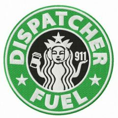Dispatcher fuel embroidery design