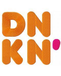 DNKN logo embroidery design