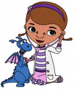 Doc McStuffins and dragon embroidery design