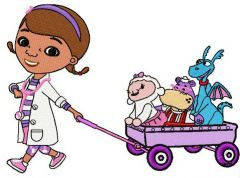 Doc McStuffins and friends embroidery design