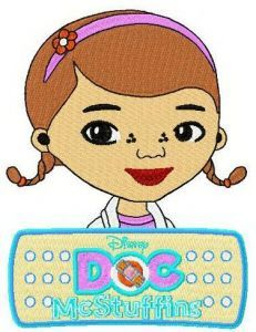 Doc McStuffins and logo embroidery design