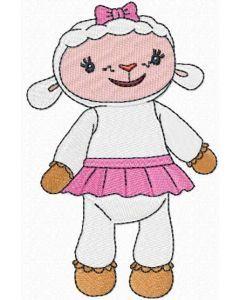 Doc McStuffins Lambie embroidery design
